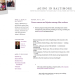 aging in baltimore blog