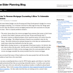 The Elder Planning Blog