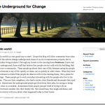 The Underground For Change
