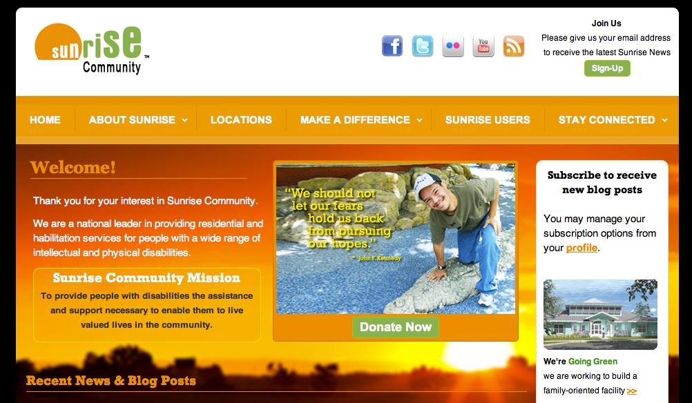 Sunrise Home Page