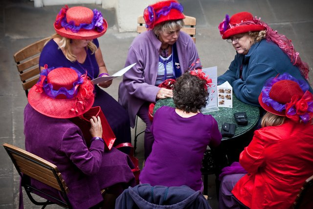 """When I am an old woman I shall wear purple With a red hat which doesn't go, and doesn't suit me..."" From the poem Warning by Jenny Joseph. Photo By garryknight"