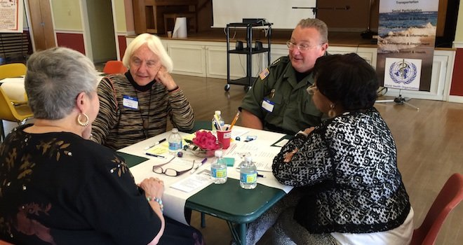 Jan Hively at a World Cafe meeting.