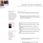 aging in baltimore blog
