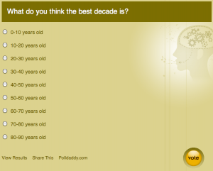 What Decade is Best?