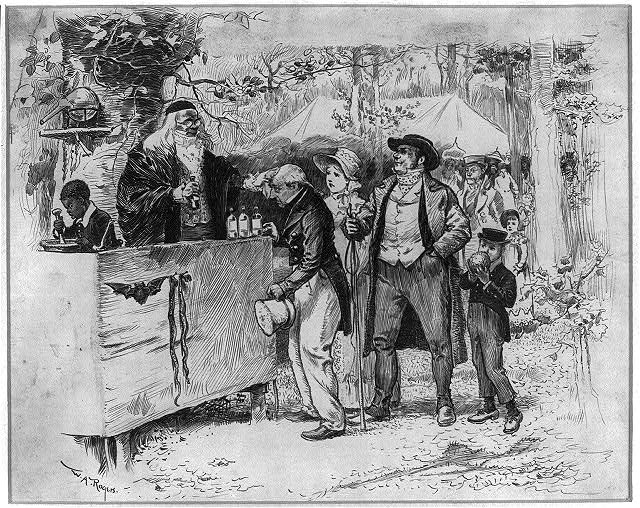 A quack doctor at the fair, Library of Congress