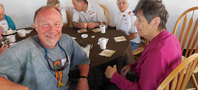 Roger at a Seattle Alzheimer's Cafe