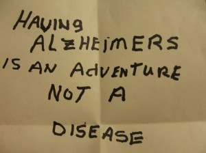 Having Alzheimer's