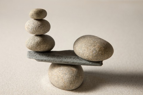 Rocks Balanced on Scale - ChangingAging