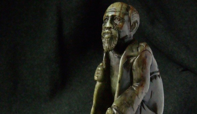 Shona African sculpture of old man
